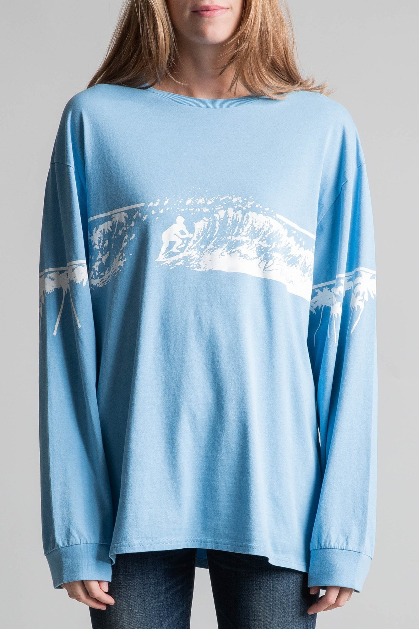 R13 Surf Long Sleeve T- Pacific Blue