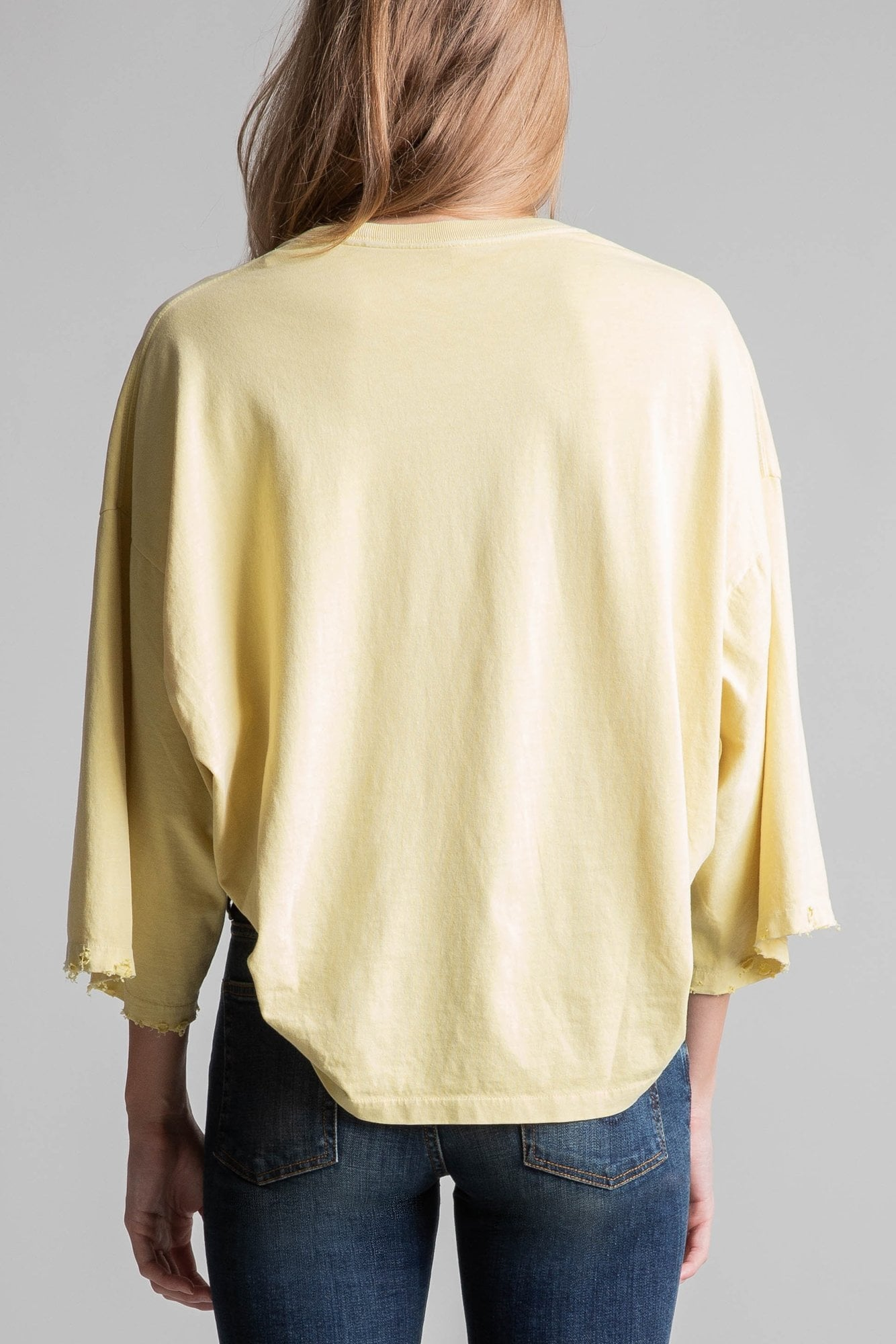 Cropped Pleated Venice T– Surf Yellow