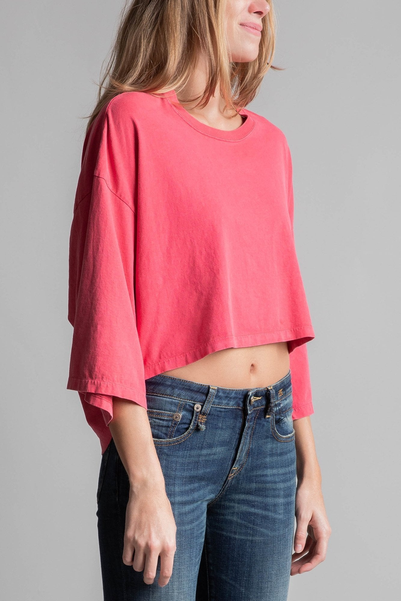 Cropped Venice T- Red