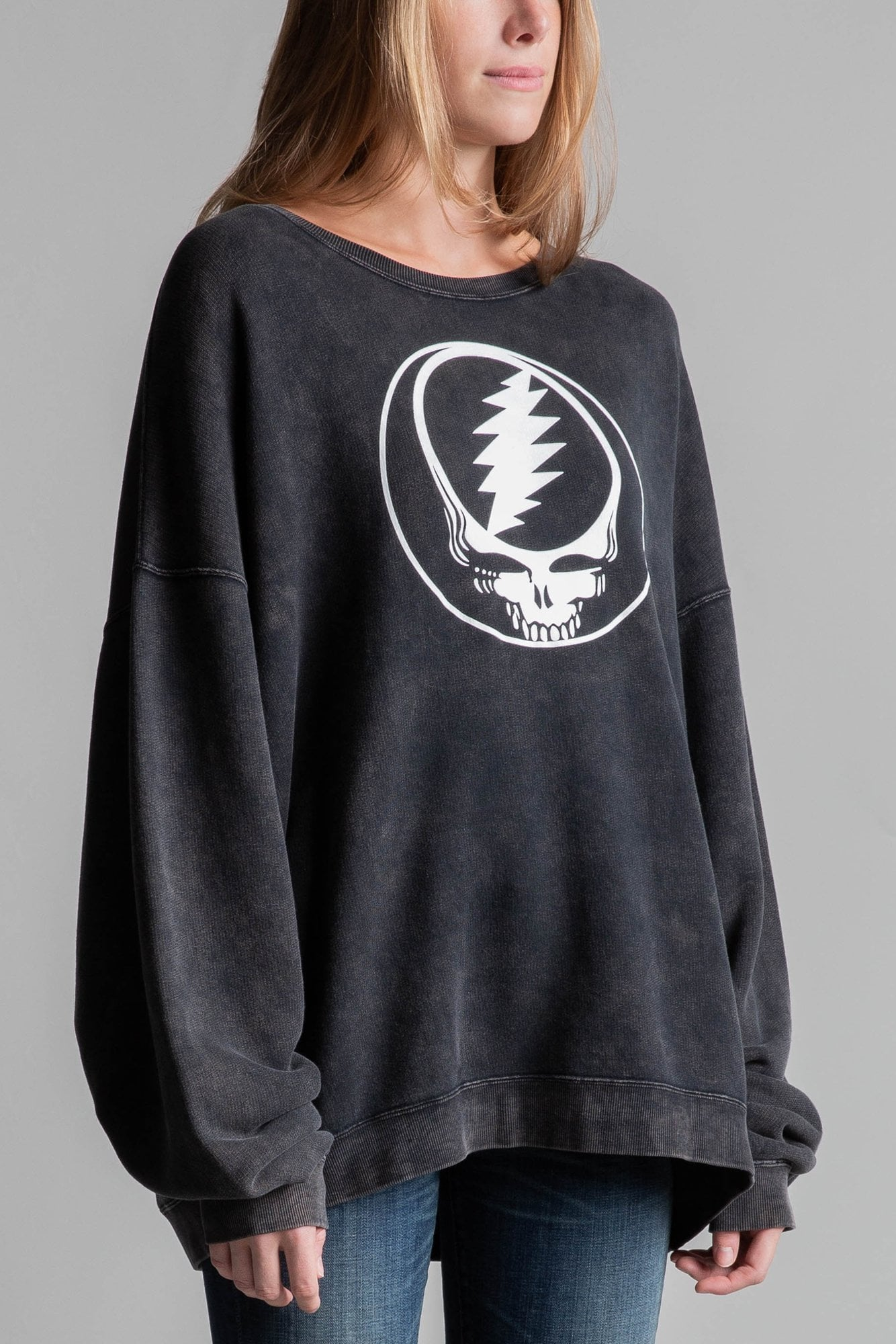 Steal Your Face Sweatshirt– Acid Black