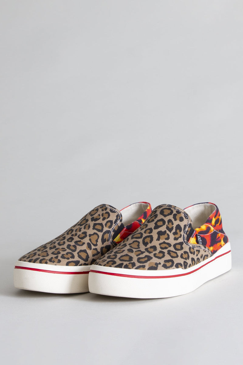 Slip-on Sneaker -Leopard with Flames