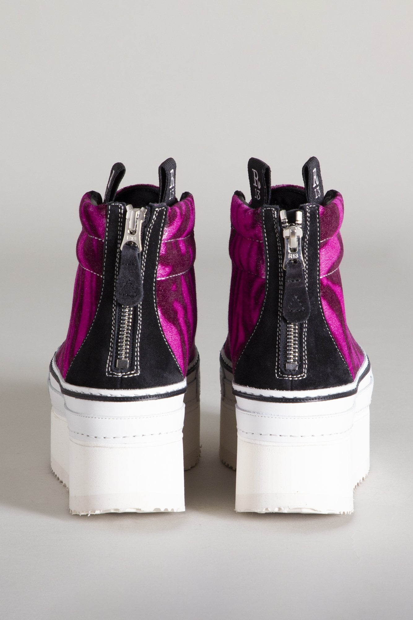 High Top Skate Platform Sneaker - Magenta Tiger