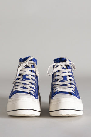 High Top Sneaker - Royal Blue