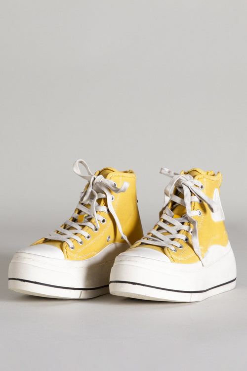 High Top Sneaker - Gold