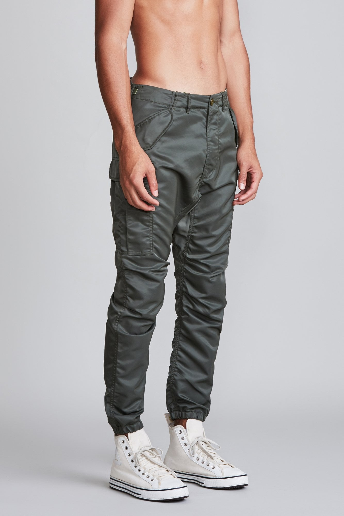 Military Cargo Pants - Olive