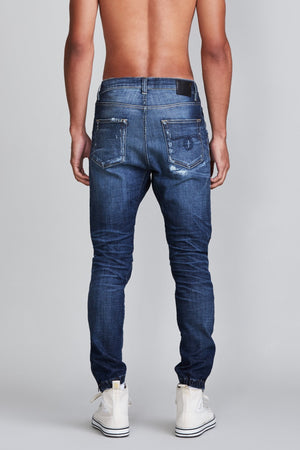 Cooper Tapered Drop with Rips - Liam Indigo