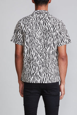 Tony Shirt - Zebra with Yellow Leopard