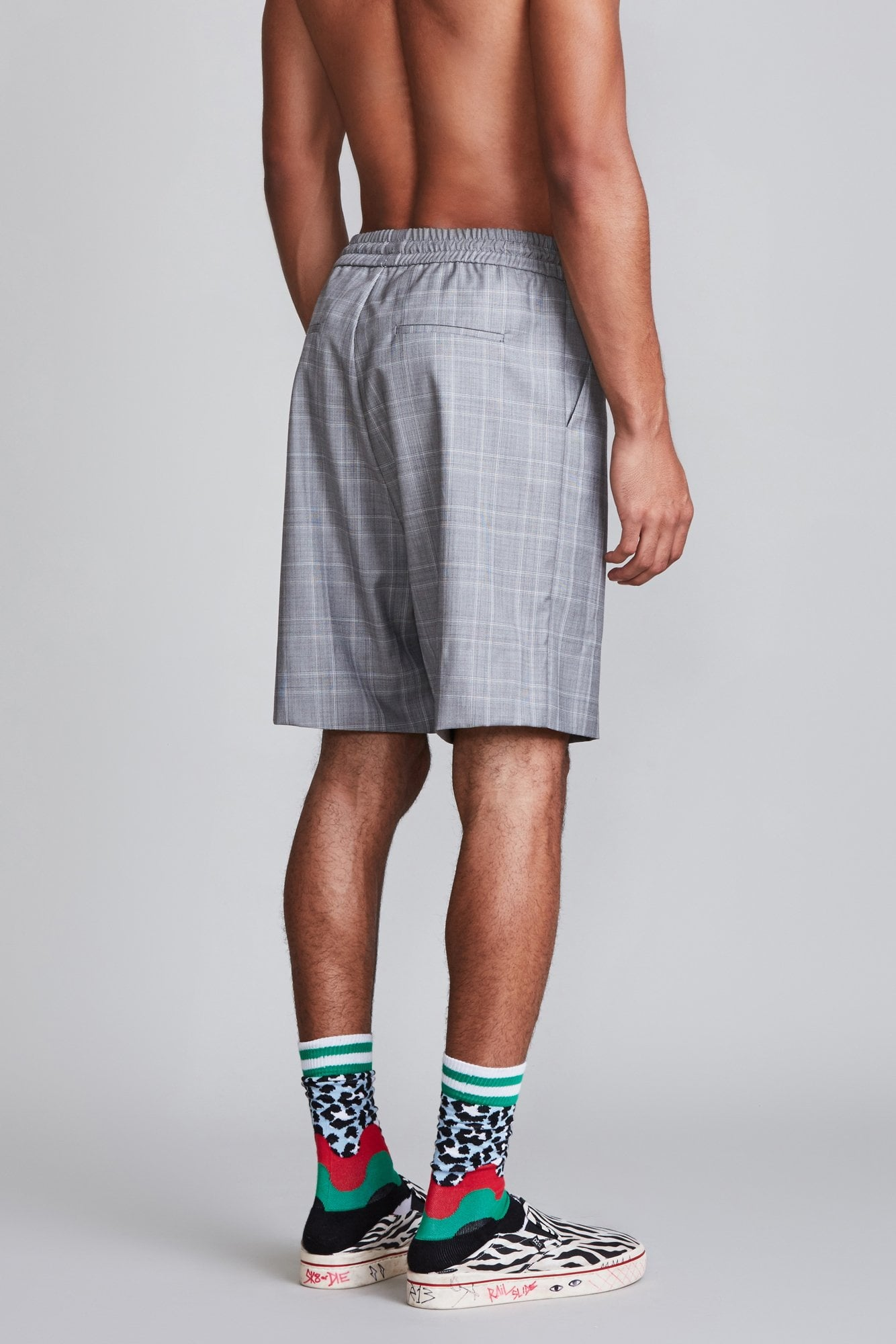 Baggy Short - Grey Plaid