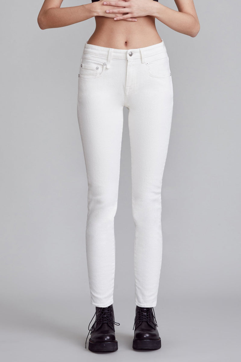 Mid-rise Boy Skinny - Rinsed White
