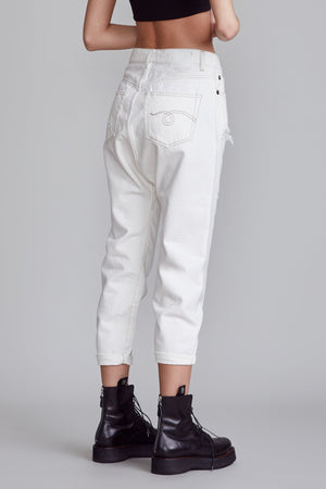 Tailored Drop Jean - Nora White