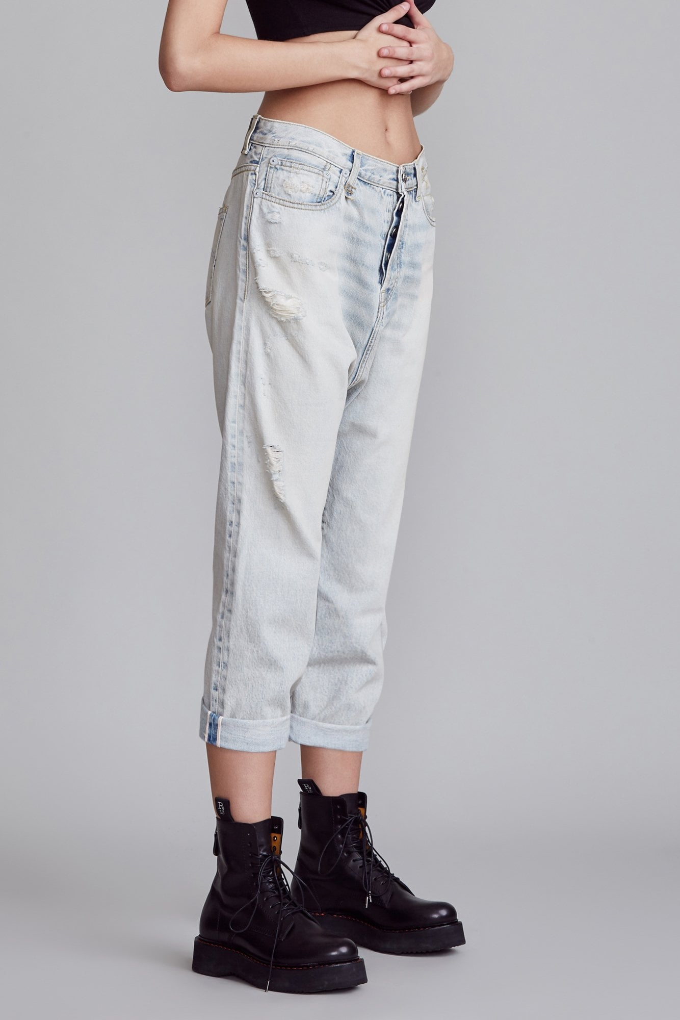 Tailored Drop Jean - Leva Blue