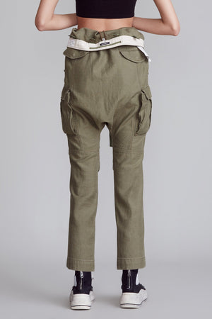 Rolled Waist Cargo Pant