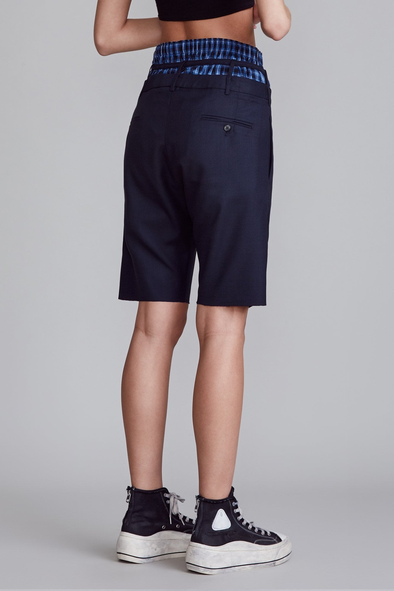 Ollie Shorts - Navy Pin Dot