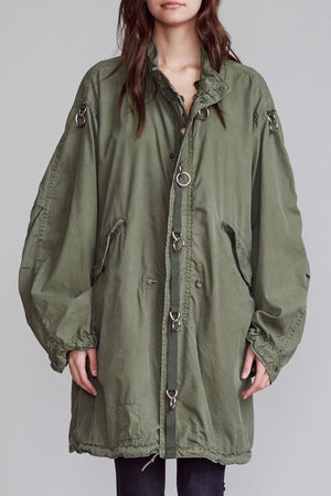Refurbished Fishtail Parka with Rings