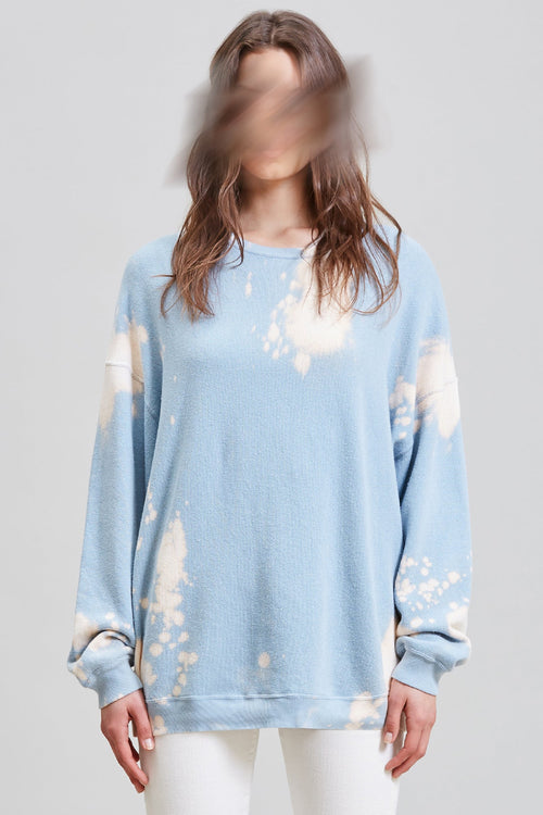 OVERSIZED CREWNECK - BLEACHED LIGHT BLUE