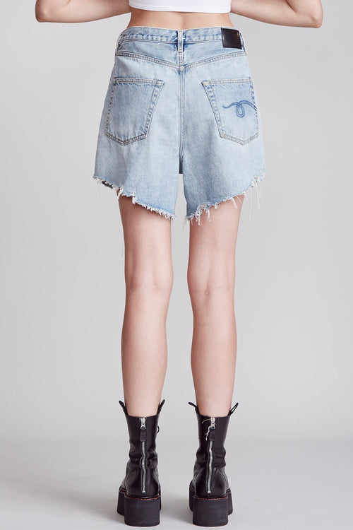 DAMON PLEATED SHORT - LENNON BLUE