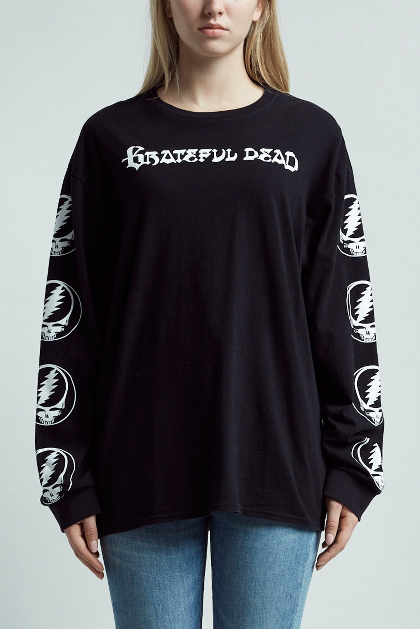 Steal Your Face Long Sleeve T- Black