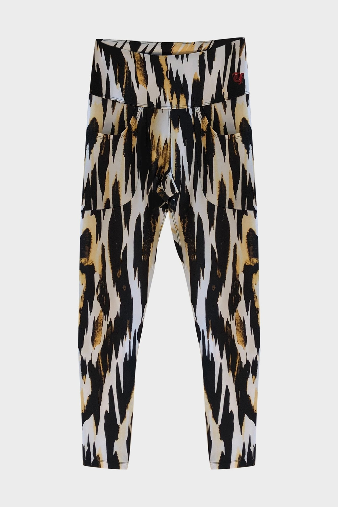 Patch Pocket Legging - Abstract Zebra