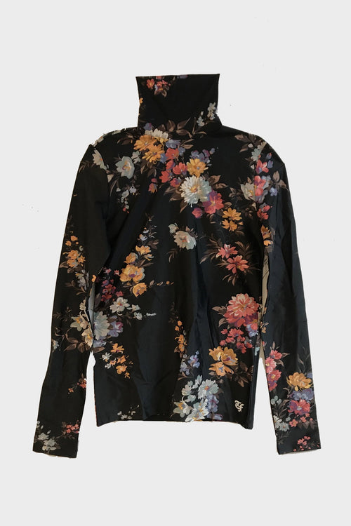 Turtleneck - Black Floral