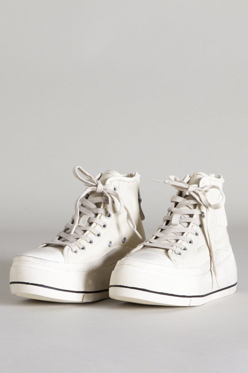 Men's High Top Sneaker - Ecru