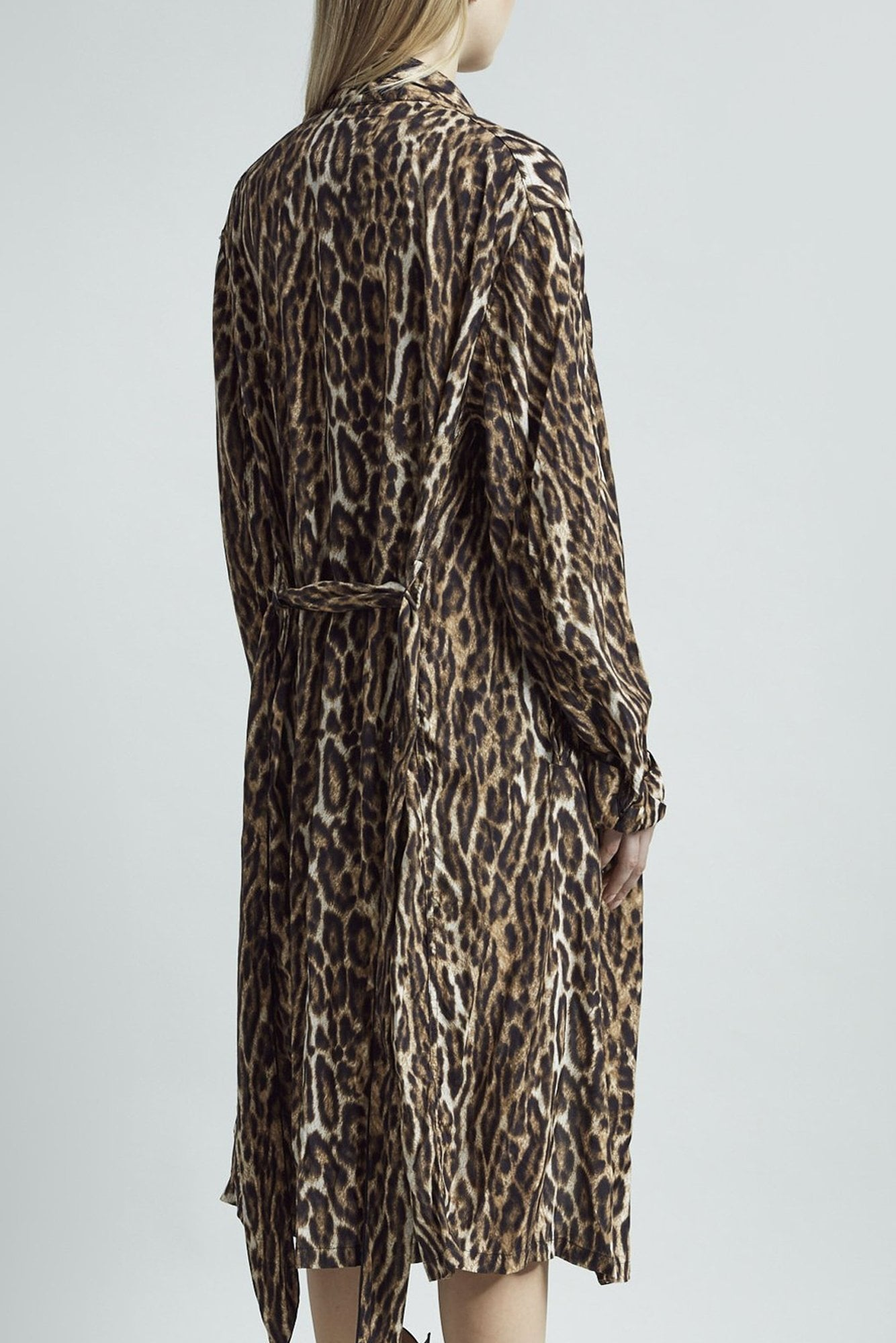 Smoking Robe with Piping– Leopard