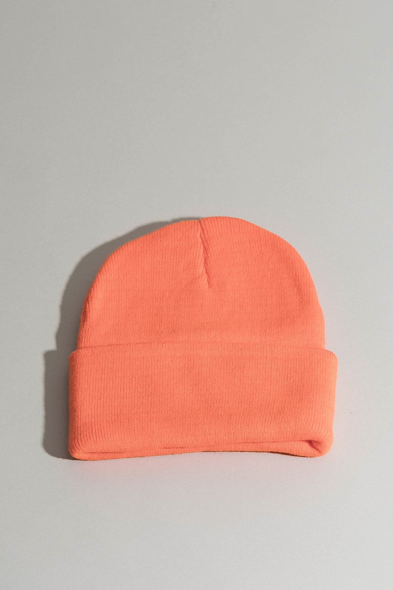 Beanie w/ Embroidery - Orange