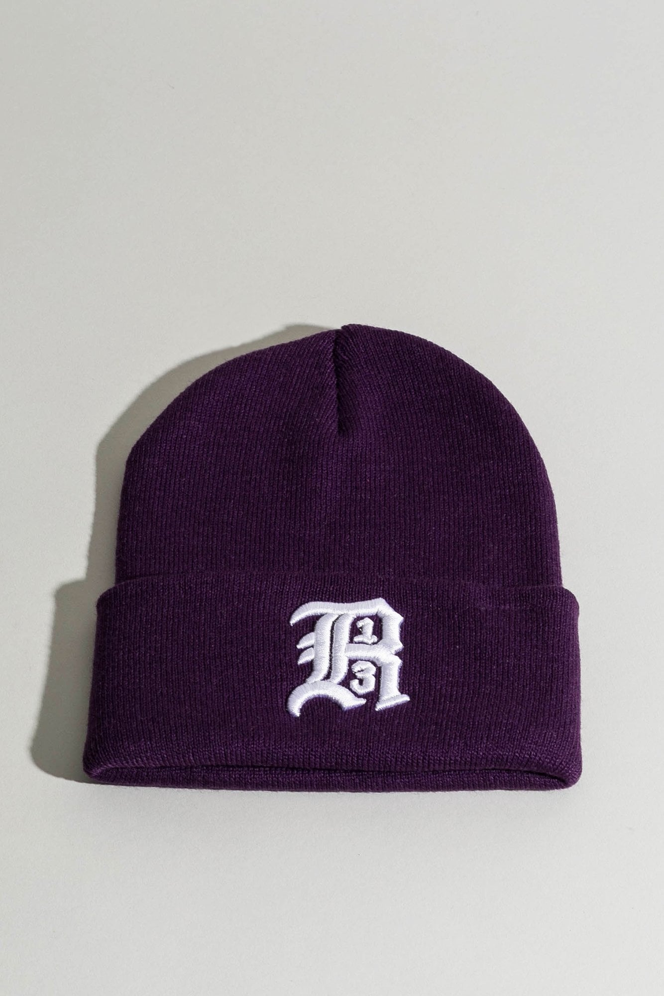 Beanie w/ Embroidery - Purple