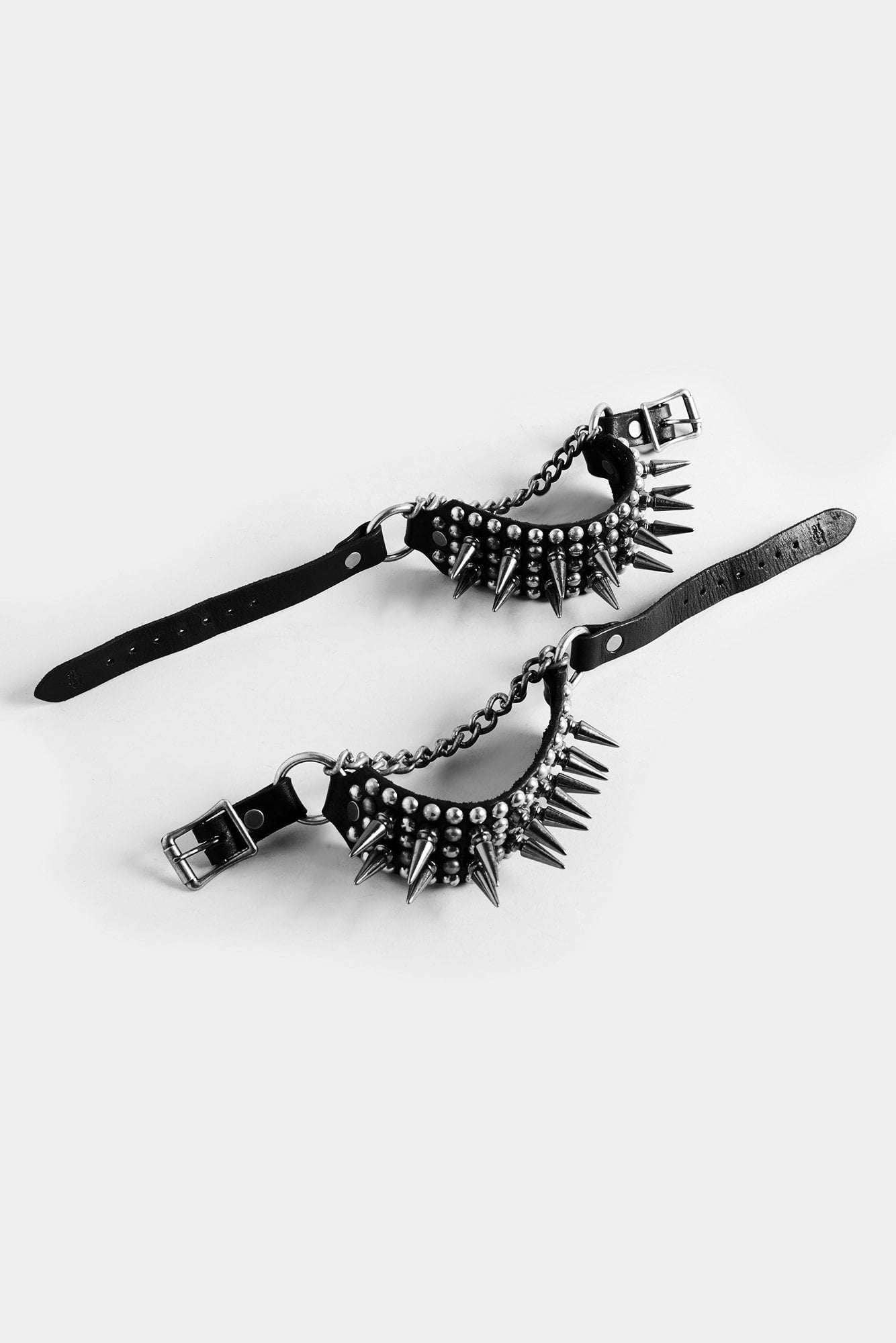 Studded Boot Harness Straps with Spikes