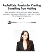 INC.COM</br> Rachel Katz: Passion For Creating Something From Nothing