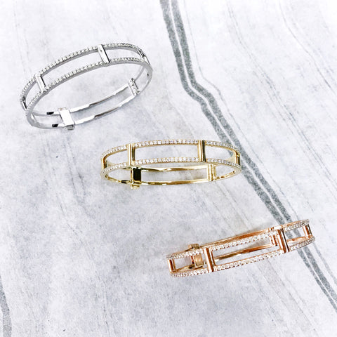 Locking cage bracelets | Rachel Katz Jewelry