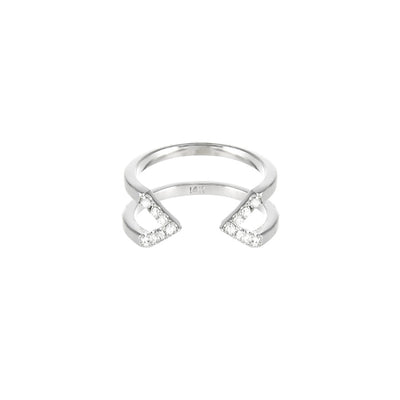 Diamond Dagger Ring - Midi  | White Gold