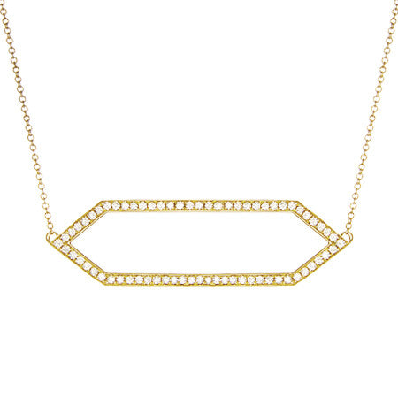 Diamond Marquis Necklace | 14K Yellow Gold