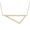 Large Diamond Triangle Necklace | Yellow Gold
