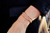 Diamond Open Gear Bangle | Rose Gold