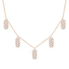 Diamond Five Marquis Charm Necklace | Rose Gold