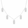 Diamond Five Marquis Charm Necklace | White Gold