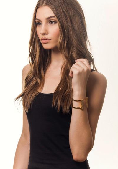 Slim Bond Cuff - Short | Gold