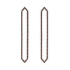 All Black Diamond Long Marquis Earrings | Rose Gold