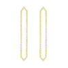 All Diamond Long Marquis Earrings | Yellow Gold