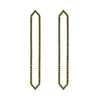 All Black Diamond Long Marquis Earrings | Yellow Gold
