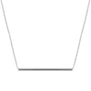 Long Balance Necklace | White Gold