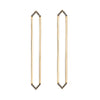 Long Marquis Earrings | Yellow Gold with Black Diamond Points