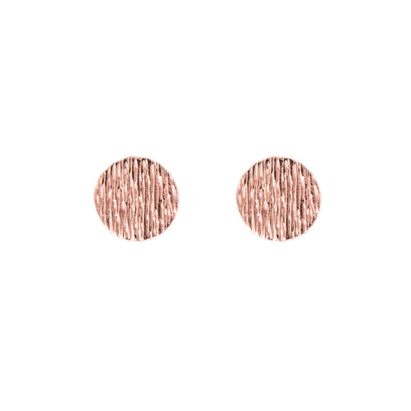 Disc Earrings | Rose Gold