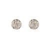 Disc Earrings | White Gold