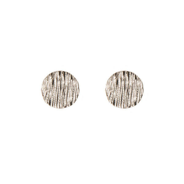 Disc Earrings | 14K White Gold