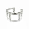 Half Cage Cuff | Silver Plated Brass