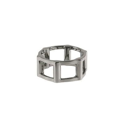 Half Cage Ring | Black Gold