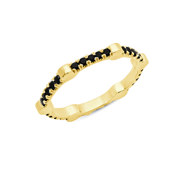 Cage Band | Gold with Black Diamonds