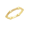 Yellow Sapphire Gear Band | Yellow Gold