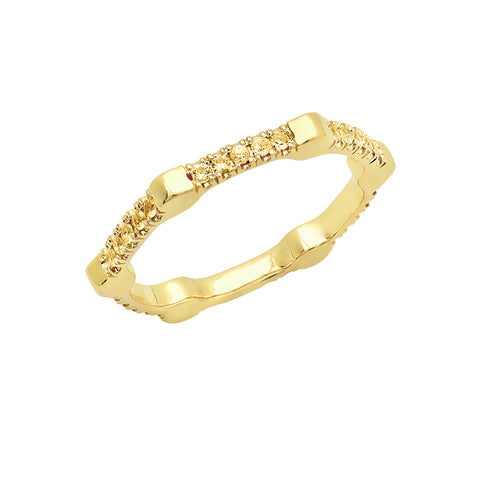 Cage Band | Gold with Yellow Sapphires